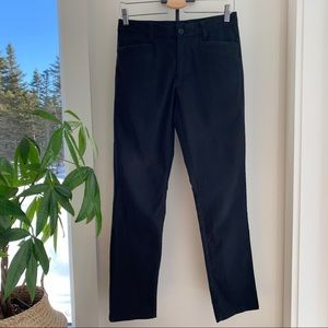 Calvin Klein Black Cotton Pants